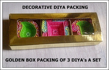 Golden Packing Box of Decorative Diya
