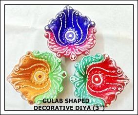 Gulab Shaped Decorative Diya