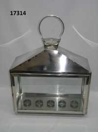 Stanless Steel Lentern Rectangle 5 T Light