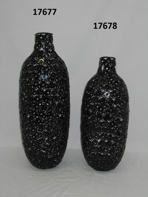 Iron Black Flower Vase