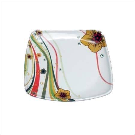 Melamine Designer Square Plate