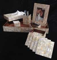 mother of pearl office set