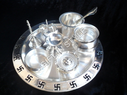 Silver Plated Pooja Thali