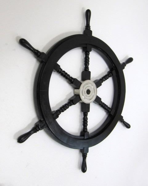 Pirate ship wheel with aluminum hub 30''