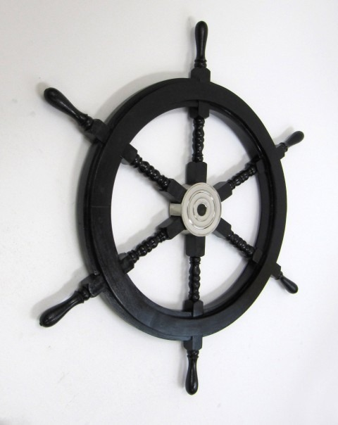 Pirate ship wheel with aluminum hub 30''