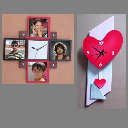 Wall Clock With Photo Frame