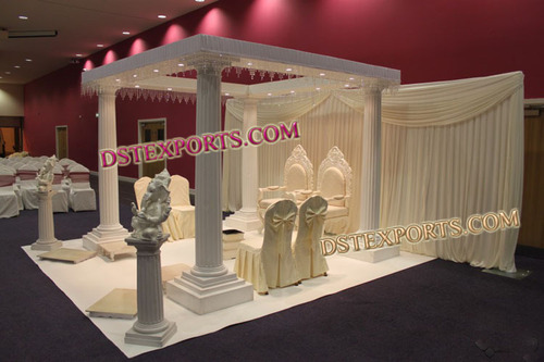 Wedding Elegent White Roman Mandap