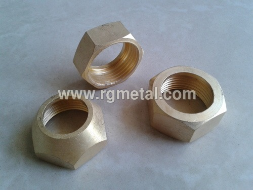 Brass Hex Dome Nuts