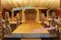 Latest Wooden Wedding Mandap