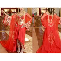 Belly Dancing Red Wedding Costumes