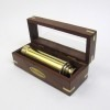 Solid Pullout Telescope With Wooden Glass Box