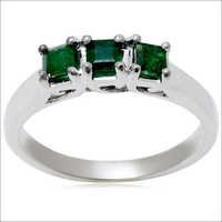 three stone emerald princess jewelry ring , emerald jewelry , indian gold jewelry