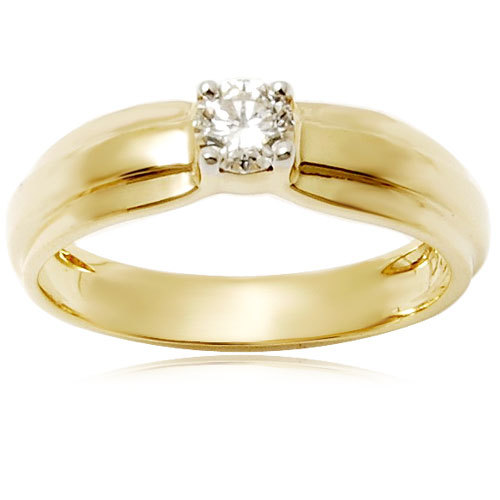 mens diamond solitair gold engagement ring design	mens jewellery in gold, mens diamond