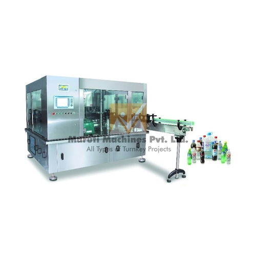 Rotary Bottle Rinsing Filling Capping Machine For Pet Bottle