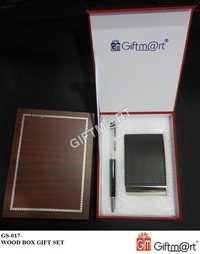 Gift Set 2 In 1(Visiting Card Holder And Crystal Pen)