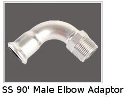 SS 90' Male Elbow Adaptor
