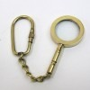 solid brass nautical keychain magnifying glass   2¼