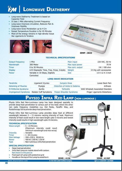 Longwave Diathermy &  IR  Lamp