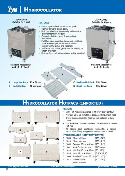 Hydrocollator with Hot Pac