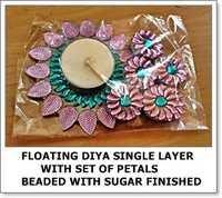 Floating Diya Single Layer with Set of Petals