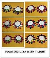 Floating Diya with Light