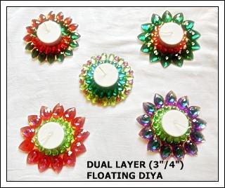 Dual Layer Floating Diya