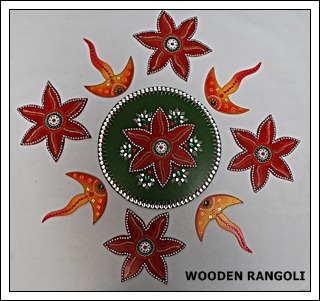 Wooden Rangoli
