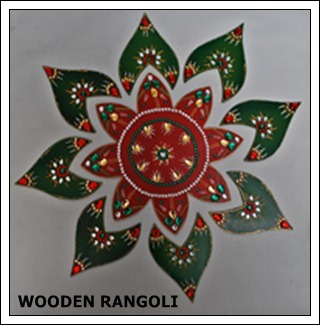Wooden Floor Rangoli