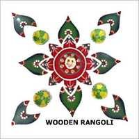 Wooden Decorative Floor Rangoli