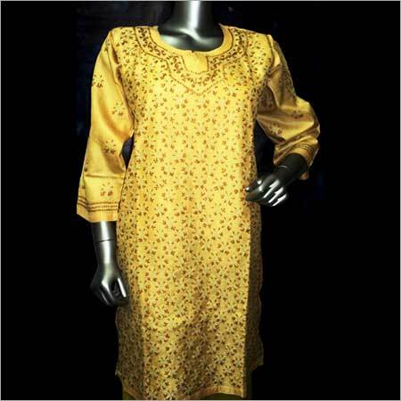 Tussar Silk Long Top