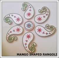 Mango Shaped Floor Rangoli