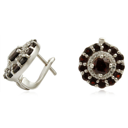 Exclusive earring 2013 latest award winning for women, garnet silver jewellery, women ear