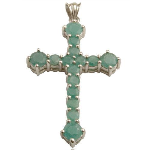 emerald crucifex silver wholesale price from valentine, religious silver pendant, cross penda