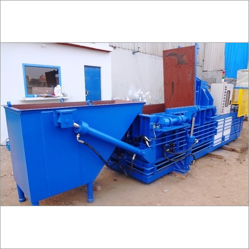 Blue Scrap Baling Machine