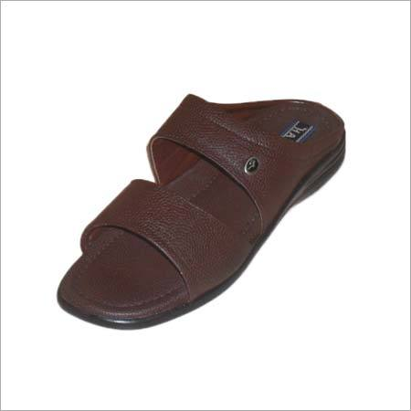 Mens Leather House Slippers