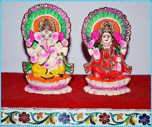 Idol of Eco Friendly Laxmi Ganesh