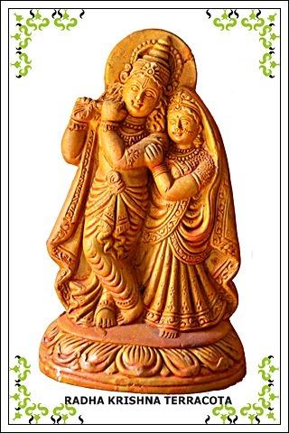 Radha Krishna Terracota