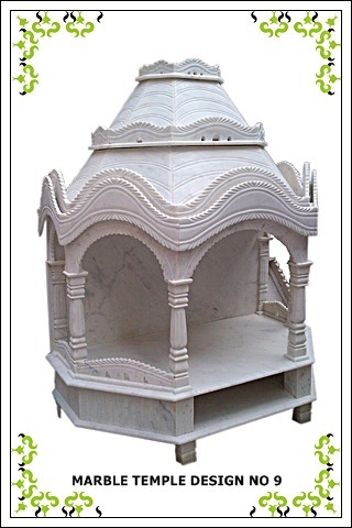 Hand Carved White Marble Temple