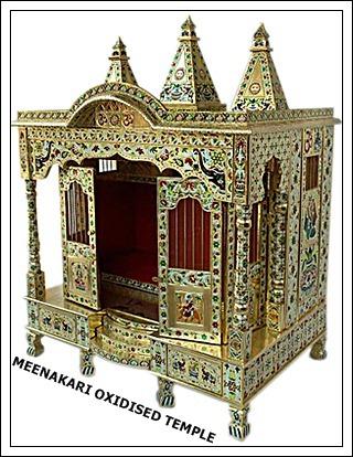 Brass Minakari Temple