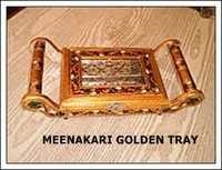 Meenakari Golden Tray