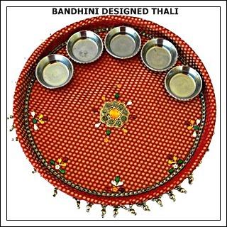 Bandhani Designed Thali