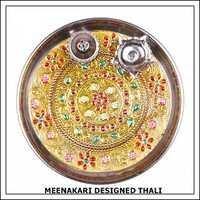 Meenakari Designer Thali