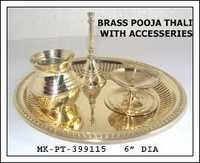 Brass Pooja Thali with Accessories