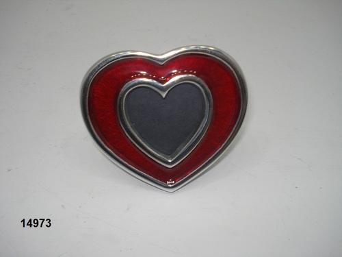Aluminium Heart Photo Frame