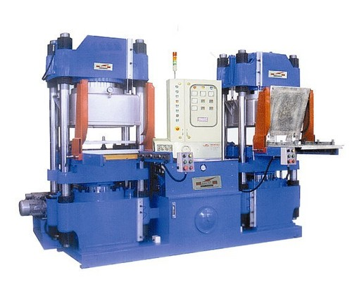 3- Vaccum  compression Moulding  Press  with  slid