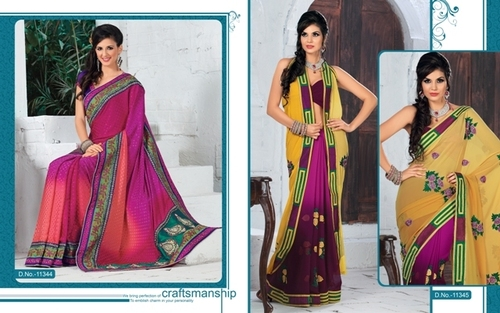 Fashionable Embroidered Sarees
