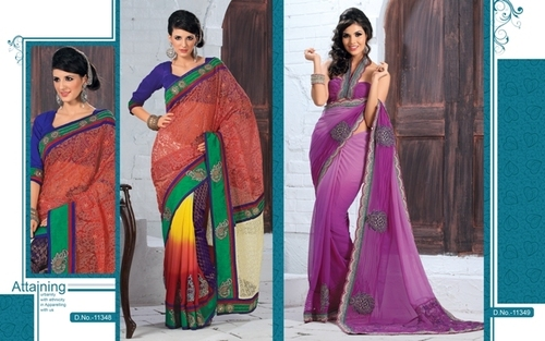 embroidered sarees collection