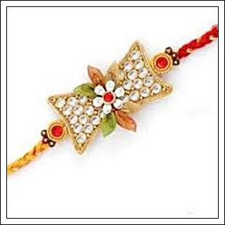Diamond Flower Rakhi