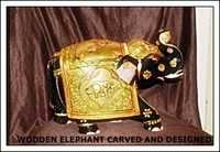 Wooden Elephant Craft and Designed