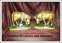 Wooden Ox Carved and Designed